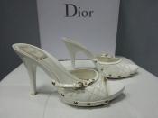 Сабо Christian Dior, оригинал, лакированная кожа, цвет - белый.