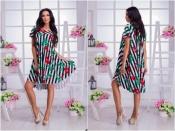 Платье свободное в полоску