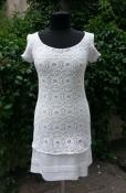 """Платье от Patrizia Pepe, оригинал, сочетание трикотажа и """"густого"""" гипюра, цвет- белоснежный."""