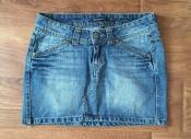 Юбка мини джинс Terranova разм. S голубая с карманами