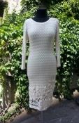 Платье Massimo Dutti, шелк / хлопок, цвет- кремовый.