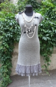 Трикотажное платье в стиле Chanel, от французского бренда Rene Derhy.