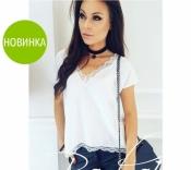 """Женская блуза с кружевом """"Есения"""""""