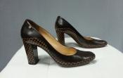 Туфли Louis Vuitton, оригинал, кожаные, цвет- коричневый.