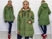"""Женская куртка """"Аляска"""" однотонная +++ БАТАЛ"""