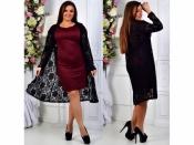 Комплект платье+гипюровый кардиган +++ Батал