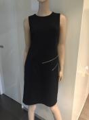 Трикотажное платье Michael Kors, оригинал, цвет- черный, отделка молниями.