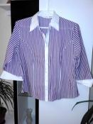 Стильная элегантная рубашка в полоску фирмы m&s