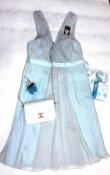 Бирюзовое нарядное платье с шифоном debut debenhams