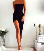 Очень эффектное облегающее платье фирмы bay с разрезом