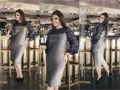 Платье трикотаж-люрекс, гипюр +++ БАТАЛ