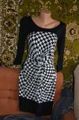 Чёрно-Белое платье-миди от Next