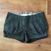 Шорты мини джинсовые River Island черные разм. 10 (36)