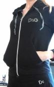 Черный спортивный джемпер, бренд D&G