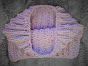 Снуд хомут шарф вязаный ручная работа сиреневый велюр новый теплый зима
