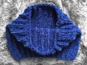 Снуд вязаный плюш велюр унисекс синий новый теплый демисезон осень зима весна мягкая нежная