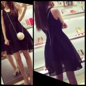 Изумительное платье-мини из рифлённого неопрена