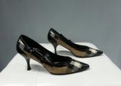 Туфли Burberry, оригинал, состояние новых, комбинированные, ткань / кожа.