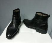 Мужские ботинки Aldo Brue ( Италия ), оригинал, кожаные с натуральным мехом.