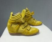 Сникерсы, кроссовки итальянского бренда Lemaré, состояние новых, цвет - желто / лимонный.