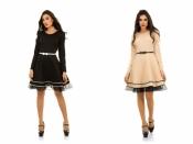 Платье ярусная юбка