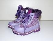 Зимние кожаные ботинки для девочки на меху 23-28