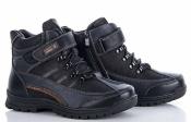 Качественные ботинки зимние на меху черные Башили