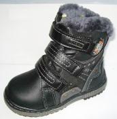 Модные кожаные ботинки мальчикам цигейка 27-30