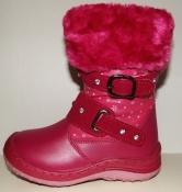 Сапожки для девочек розовые с ремешками
