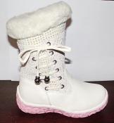 Сапоги теплые кожаные для девочек Bessky 27-30
