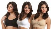 Женские бюстгальтеры по принципу А-БРА новые три цвета