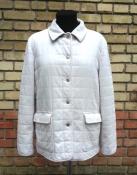 Куртка Burberry, оригинал, утепленная, хлопок, цвет - белый.