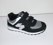 Кроссовки детские черные с белым New Balance ( 32-35 )