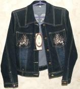Новая джинсовая куртка пиджак на девочку Турция