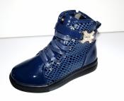 Ботинки демисезонные для девочек синие Clibee Румыния ( 32-37 )