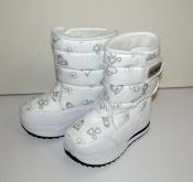 Цена снижена! Дутики  сноубутсы девочкам белые зима Alaska ( 25-28 )
