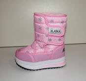 Цена снижена! Дутики / сноубутсы девочкам розовые зима Alaska ( 25-28 )