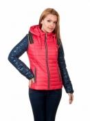 Модная демисезонная куртка-трансформер коралловая Рокси/Roxy
