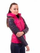 Модная демисезонная куртка-трансформер малиновая Рокси/Roxy