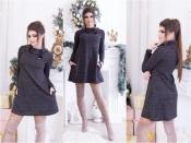 Теплое платье с люрексом Батал +++