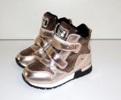Ботинки кроссовки демисезонные для девочек утепленные 26-31