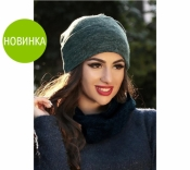 """Шапка женская """"Ангора"""" двойная"""
