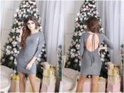 Платье люрекс с открытой спиной