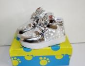 Ботинки кроссовки демисезонные для девочек New Star светящиеся 26, 27р