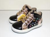 Ботинки для девочек черные c камнями Clibee 27-32