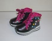 Ботинки демисезонные для девочек черные 22-26