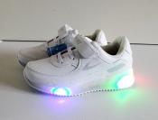 Кроссовки белые с LED подсветкой 31-36