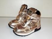 Ботинки кроссовки демисезонные для девочек сердечко 26-31