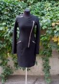 Платье Gucci, оригинал, цвет - черный,  плотное с утягивающим эффектом.