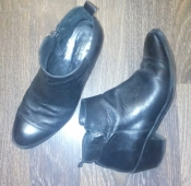 Черные кожаные демисезонные ботинки  Helene Rouge - 26 см, 40 размер. Испания